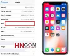 Sửa iPhone X bị mất imei