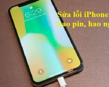 Sửa lỗi iPhone X hao pin, hao nguồn