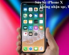 Sửa lỗi iPhone X không nhận sạc, USB
