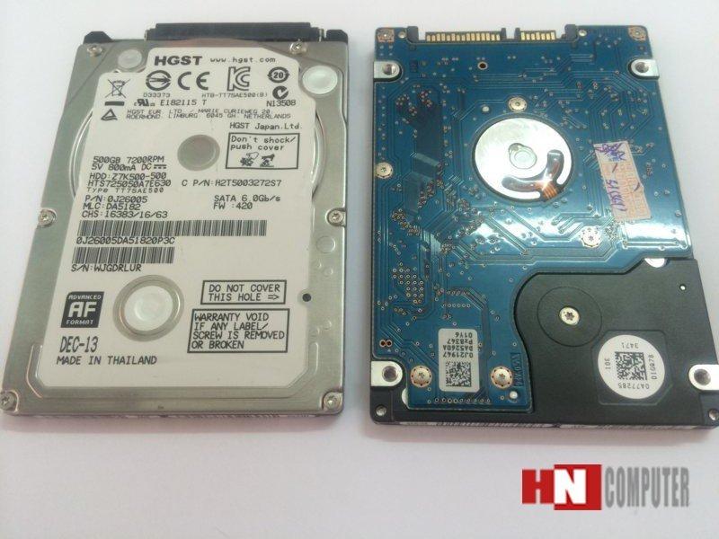 Ổ Cứng laptop Cũ 500GB/540RPM