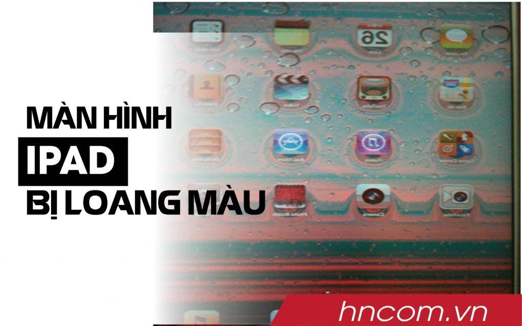 màn hình ipad bị loang màu