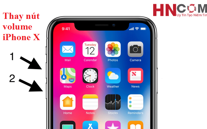 Thay nút volume iPhone X
